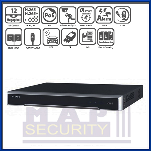 HIKVISION - 4K 8 CHANNEL ANPR READY NVR - DS-7608NI-I2/8P